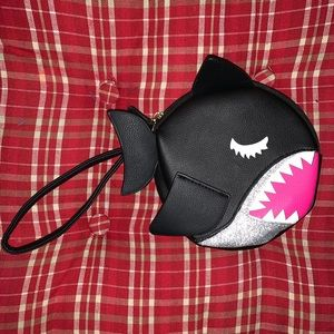 Betsey Johnson Shark wristlet